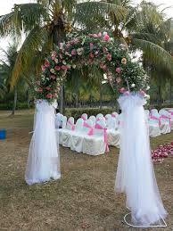 Wedding Arch Decorations Wedding Flowers Ideas Elegant White Transparent Cloth Matched