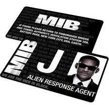 Mib In Custom Badge Ids Badges - Black And Famous – From Id Cards Agent Card Men