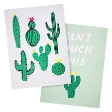meri meri art prints cactus set 2 shut the front door on cactus wall art nz with unframed prints wall art shut the front door online