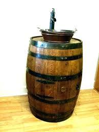 wine barrel vanity package with oval skirted vessel copper sink corbel universe half bathroom premier products
