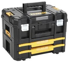 dewalt tool chest. dewalt tstak combo ii plus iv plastic tool box 2 drawers dimensions 332 x 440 chest