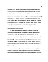 reliability of authentic assessment in fourth grade narrative and  reliability of authentic assessment in fourth grade narrative and descriptive written language for students and out learning disabilities page 54