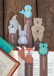 woodland friends bookmarks for summer reading in kid s paper crafts