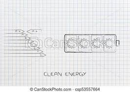 Energy Efficiency Chart Next To Battery With Solar Power Icons