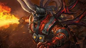 wallpaper dota 2 doom dota 2 monsters horns fantasy fire games