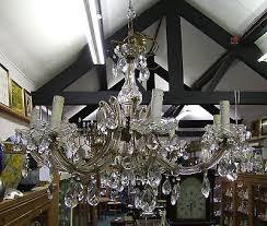 vintage french cut glass chandelier 8 bulb branch stunning item 00380