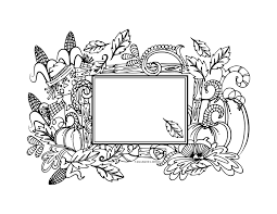 Fall Harvest Pumpkin Coloring Page By