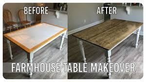 diy dining room table makeover farmhouse table edition