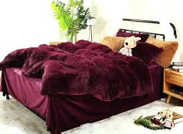 plush duvet covers full size burdy red super soft plush 4 piece fluffy bedding sets duvet