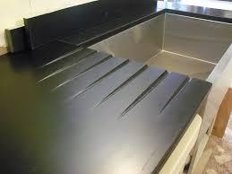 black resin countertops