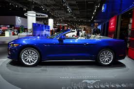 ford mustang convertible 2015. 2015 ford mustang convertible side at the 2014 paris motor show