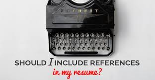 Should I Include References In My Resume Freshgigs Ca