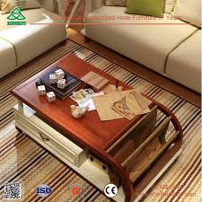 living room furniture design tea table with leather covered