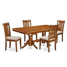 east west furniture napo5 sbr c 5 piece dining room table set
