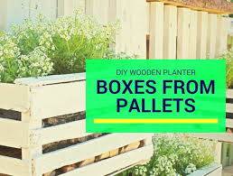 diy wooden planter boxes from pallets