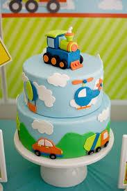 Transportation Theme Cake Bakning Birthday Cake Toddler