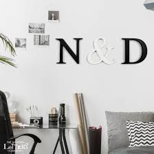 times new roman painted wooden wall letters