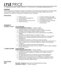 Management Sample Resumes Resume Project Manager India Retail
