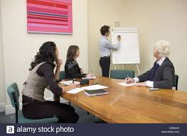 Young Man About To Start A Presentation Using A Flip Chart