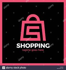 Graphic Letter Design Online Shop Bag Logo Letter S Shopping Online Stock Vector Art
