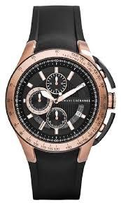 a x armani exchange armani exchange watch active men s armani exchange armani exchange watch active men s chronograph rose gold black silicone strap