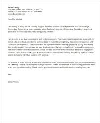 learning support assistant cover letter educational cover letters