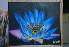water lily flower painting