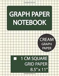 Graph Paper Notebook 1 Cm Square Cream Graph Paper Squared