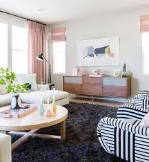 emily henderson design milk modern pink black and white jaimie derringer living room reveal 4 with