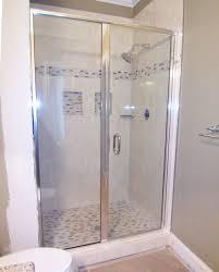 semi frameless shower door and panels ideas