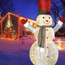Outdoor Snowman Christmas Decorations 49 Fluffy 69 99 The Holidays Pinterest