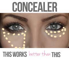 how to apply under eye concealer