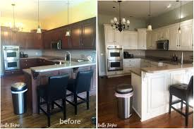 Perfect Painted Kitchen Cabinets Before And After 56 For Your Home Decor  Ideas With Painted Kitchen ...