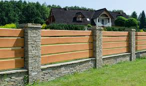 horizontal wood fence.  Fence Above Is An Example Of The Stone Pillars With Horizontal Wood Fence We  Also Do Fence However You Donu0027t Need To That In Horizontal Wood Fence