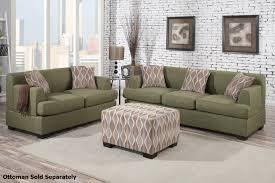 fabric sofa set. Montreal Green Fabric Sofa And Loveseat Set T