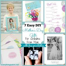 7 easy diy mothers day gifts for grandma