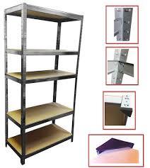 industrial raking 5 tier black metal boltless storage shelving unit shelf rack racking heavy duty 233044 jpg