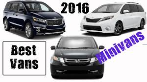 Best Minivan 2016 || Best Vans Cars 2016 || Buying Guide - YouTube