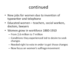 regents review topic women thematic essay topics that can be  6 continued new jobs for women