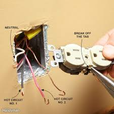 wiring outlets and switches the safe and easy way family handyman 3 Sets Of Wires In One Outlet match the breakaway tab to the original outlet