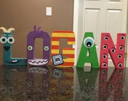 Monsters Inc Custom Name Letters   Price Is Per Letter