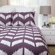 purple duvet cover bedroom contemporary with bedding chevron shee