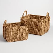 Natural Hyacinth Rectangular Molly Baskets | World Market