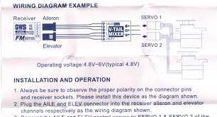 help needed with servo wire polarity rcpowers com Servo Wiring Diagram mixer instructions jpg servo motor wiring diagram