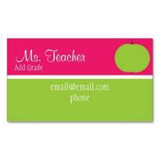 Substitute Teacher Business Card Template Teacher Business
