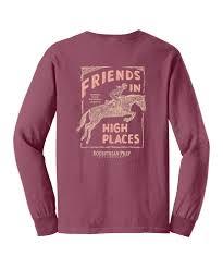 Stirrups Adult Long Sleeve Comfort Colors Pocket Tee Shirt