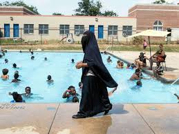 cease and desist letter photo director of darul amaanah academy tahsiyn ismaaeel watches over swimmers from her