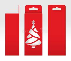 cardboard tree template array hanging red box window tree shape cut out packaging rh dreamstime