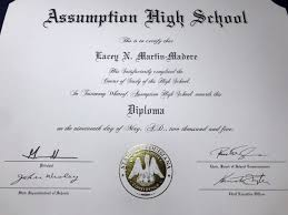 High School Diploma Transcript
