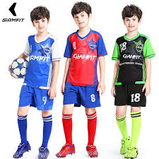 Breathable 2018 Training Enfant Sports Football Survetement Jersey Clothing Soccer Team Custom Kids Uniform